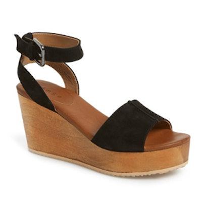 'Aimee' Wooden Platform Wedge Sandal