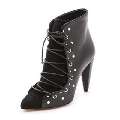Xola Lace-Up Booties