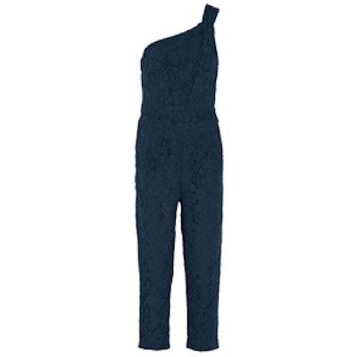 One-Shoulder Lace Jumpsuit