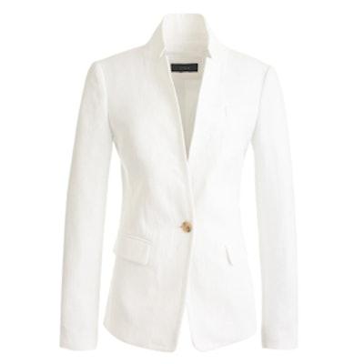 Regent Blazer in Linen White