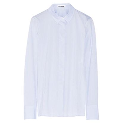 Stretch Cotton-Blend Poplin Shirt