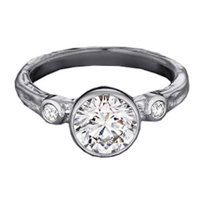 0.88 Carat Round Cut Diamond & Platinum Ring