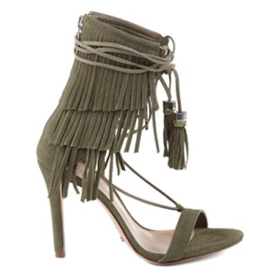 Tassel And Fringe High Heel Sandal