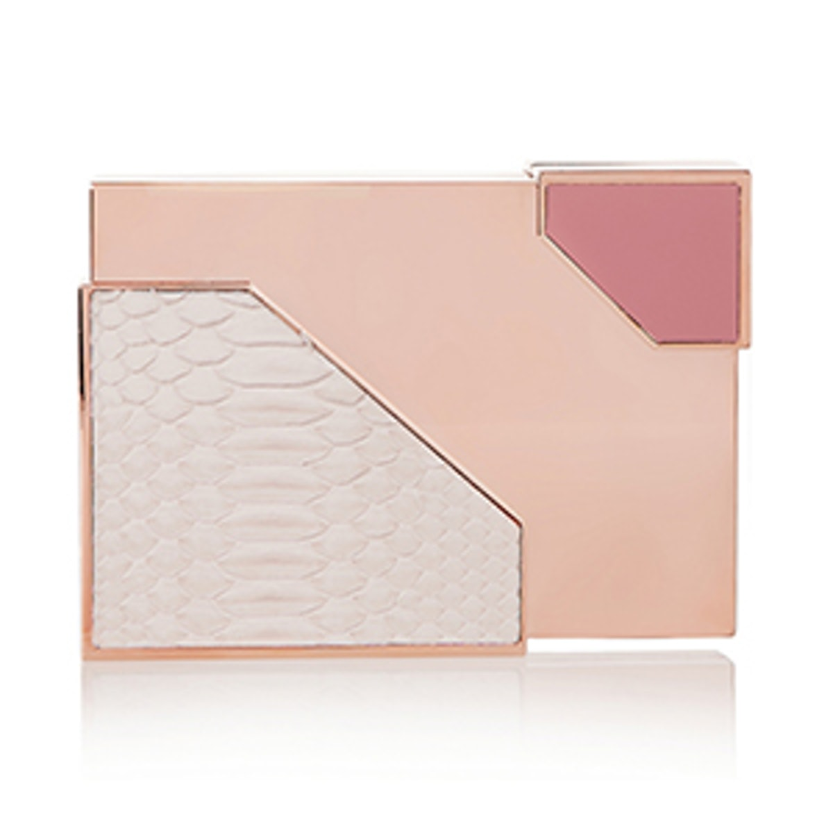 Python and Leather Box Clutch