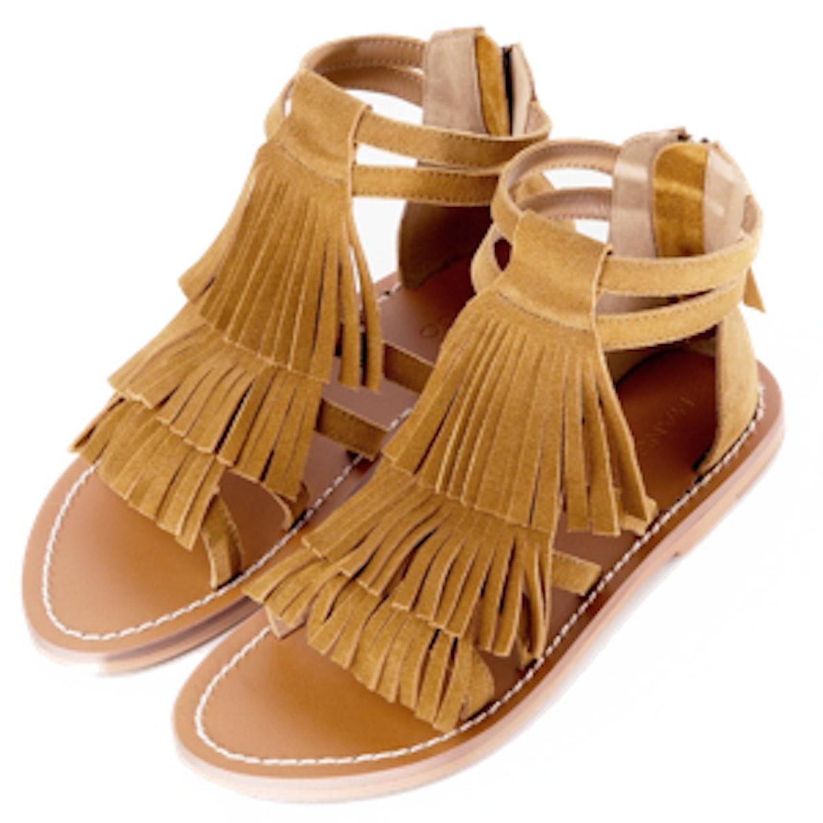 Fringe Suede Sandals