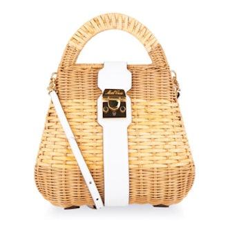 Manray Small Rattan Satchel Bag