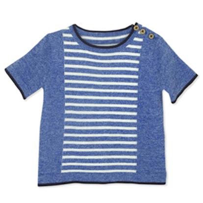 Short Sleeve Stripe Pullover