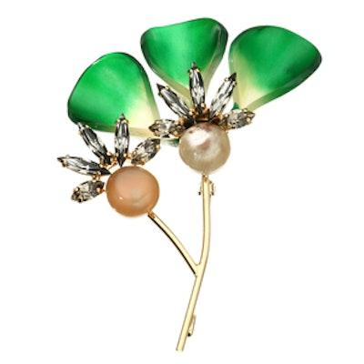 Horn-Embellished Brooch