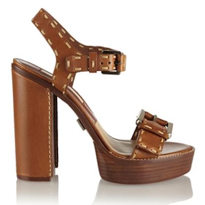 Janey Leather Platform Sandals