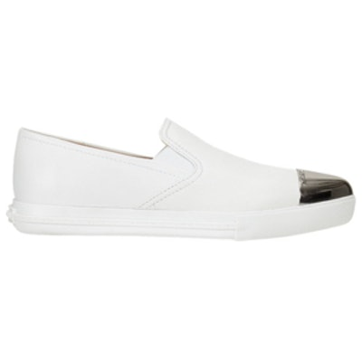 Metallic-Toe Sport Sneakers