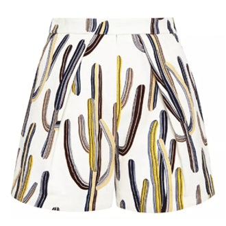 Cactus-Print Shorts