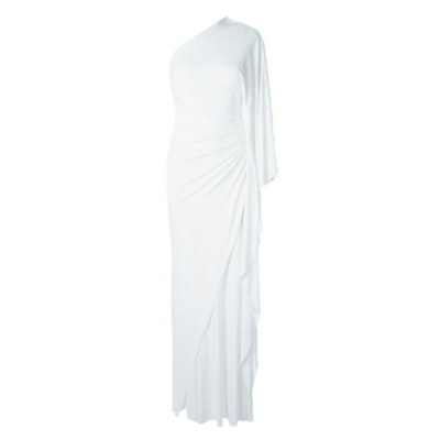 One Shoulder Draped Gown