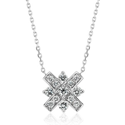 Monique Lhuiller Diamond XO Necklace