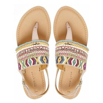Embellished Flat Sandals