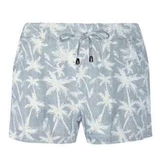 Palm-Printed Tencel Shorts