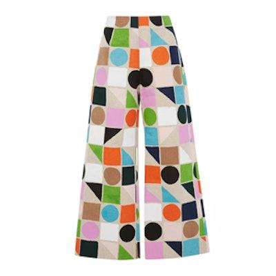 Geometric Cropped Pants