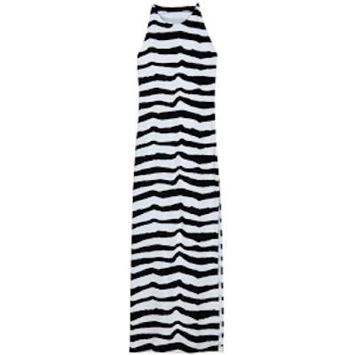 Pomme Print Crepe Maxi Dress