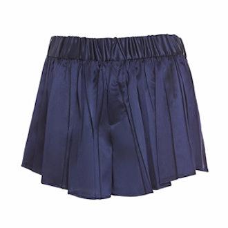 Goa Satin-Pleated Shorts