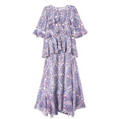 Double-Layer Paisley Dress