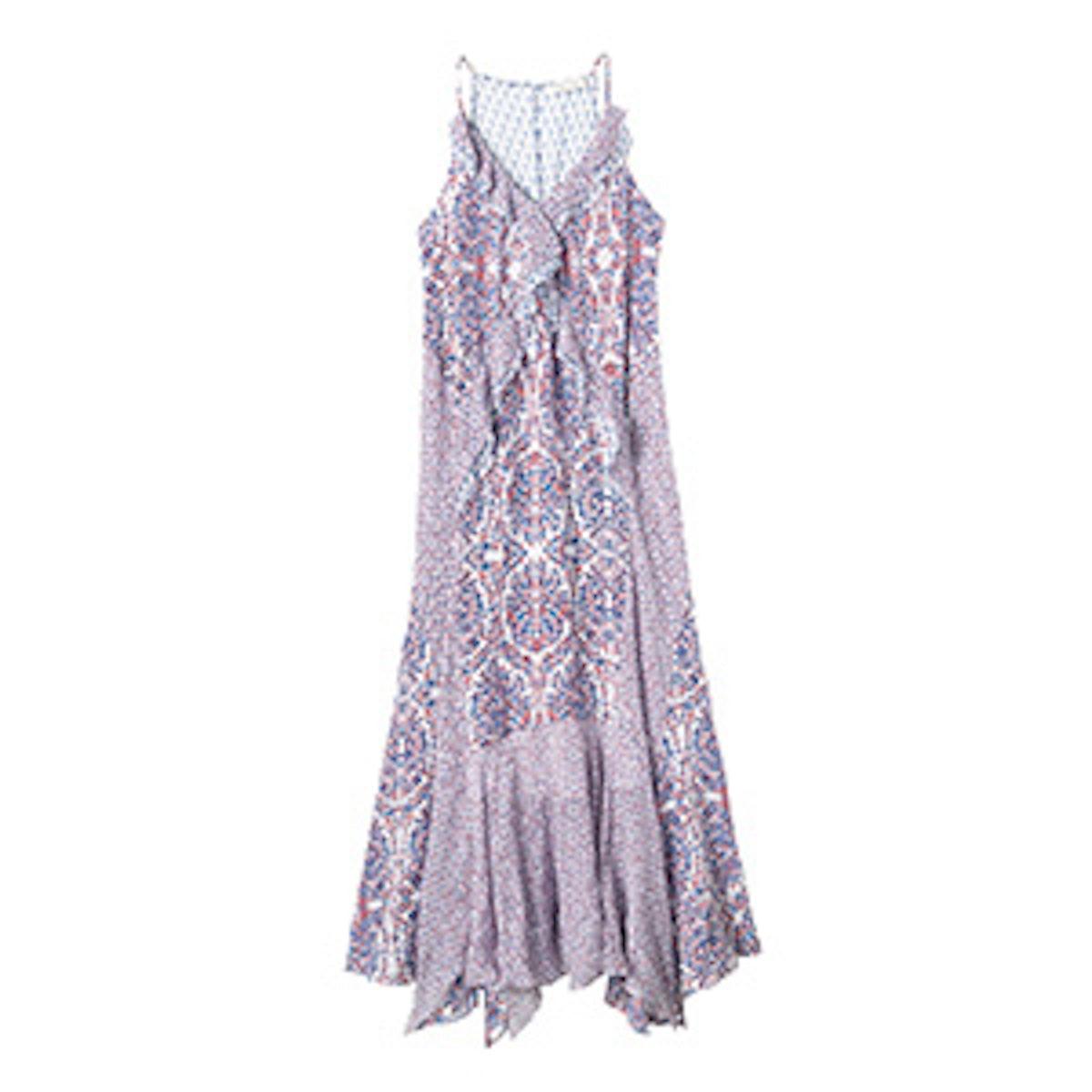 Paisley Ruffle Cami Dress