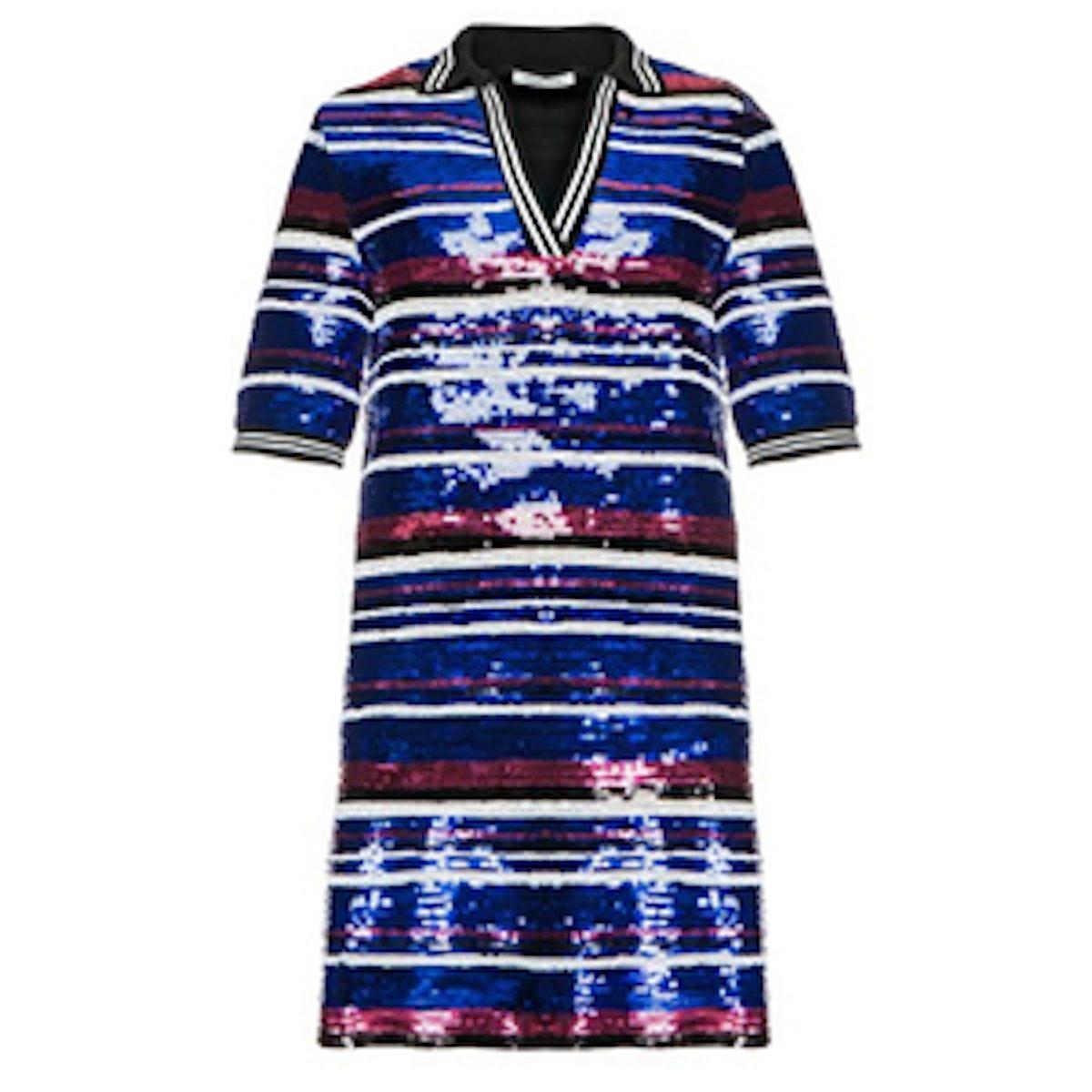 Sequin Varsity Dress