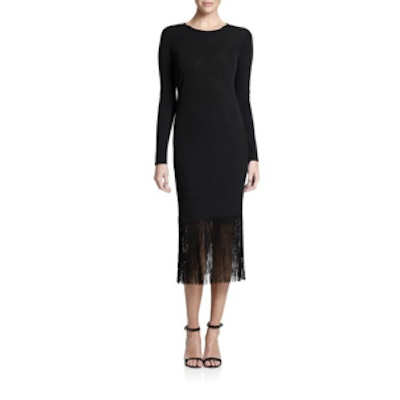 Midnight Narella Fringed Dress