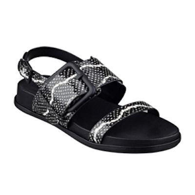 Solar Sandals in Black Multi
