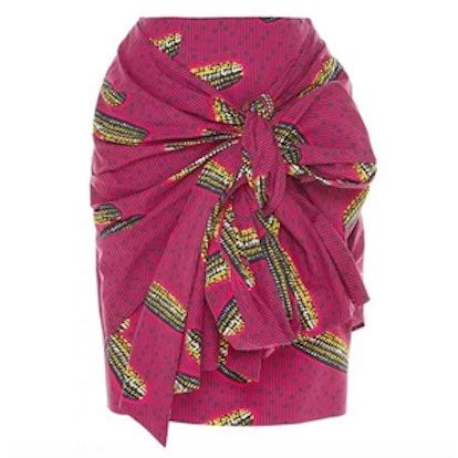 Dugongo Printed Drape Skirt