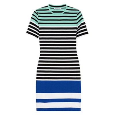 Stretch Cotton Mini Dress