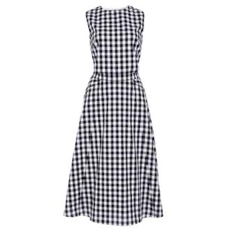 Textured Gingham Dress