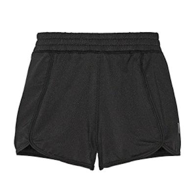 Pique Printed Stretch-Bamboo Mesh Shorts