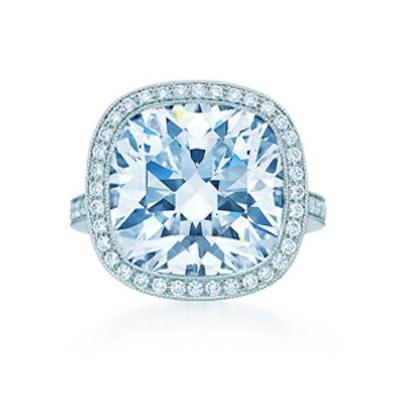 11.22 Carat Cushion Cut Diamond & Platinum Ring, Price Upon Request