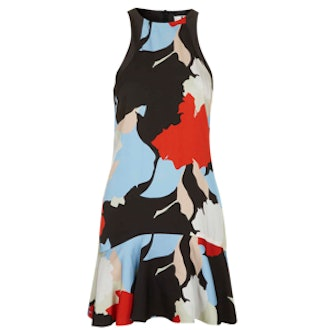 Silk Abstract-Print Dress by Unique