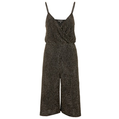 Glitter Wrap Culotte Jumpsuit
