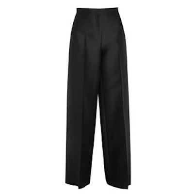 Wool and Silk Wide Leg Pants