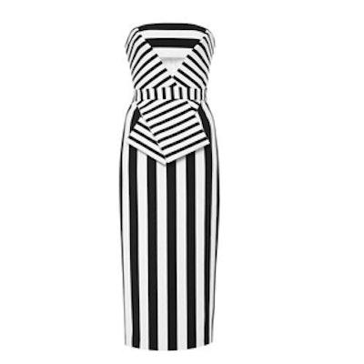 Striped Neoprene Dress