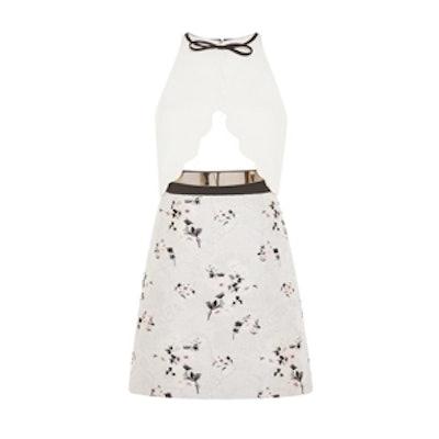 Cutout Floral Sleeveless Dress