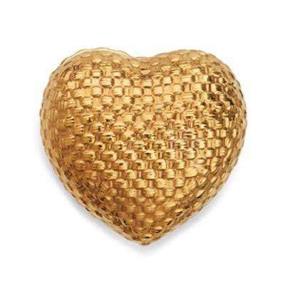 Woven Gold Heart Box