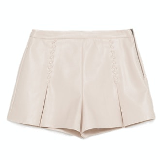 Faux-Leather Shorts