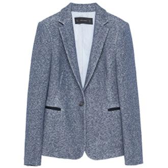 One-Button Plush Blazer