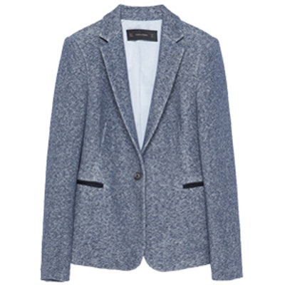 One-Button Plush Blazer