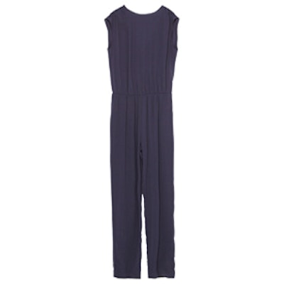 Long Jumpsuit With Gathered Back