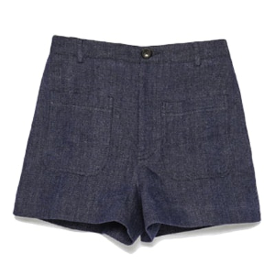 Patch-Pocket High-Waist Shorts