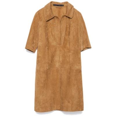 Suede Shirt-Dress