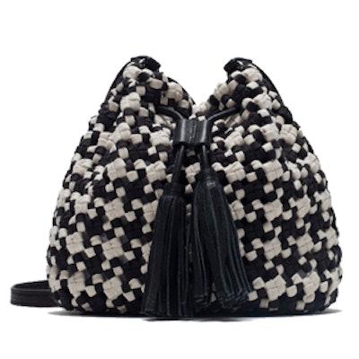 Cutwork Fabric Mini Bucket Bag