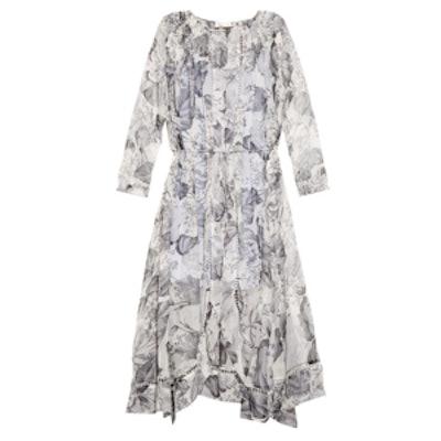 Seer Floral-Print Silk Dress