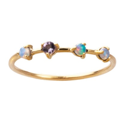 Four Step Ring – Opal and Tanzanite
