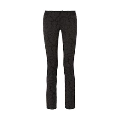Textured-Jacquard Skinny Pants