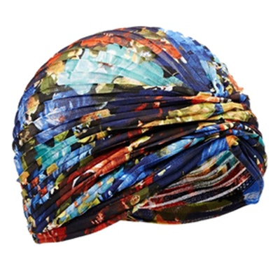 Floral Pleated Turban Hat