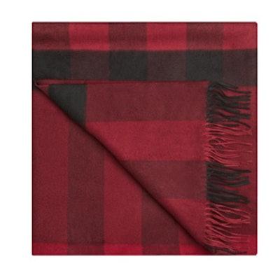 Check Cashmere Blanket
